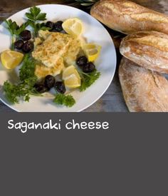 Saganaki cheese | Saganaki refers to various Greek dishes prepared in a small frying pan called a 'saganaki'. Saganaki cheese is one of the most popular appetisers cooked in this way. There are various types of cheese that can be used Kefalograevria is one of the most popular - fried and eaten hot while it is still soft it is a real treat! Dishes Recipes, Food Dishes, Popular Appetizers, Types Of Cheese, Greek Dishes, Appetisers, French Toast, Treats, Cooking