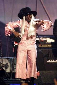 That time he wore a pink jumpsuit and blonde wig better than anyone else ever could. Andre 3000, Pink Jumpsuit, American Rappers, Blonde Wig, Iconic Characters, Costume Design, Dapper, Style Icons