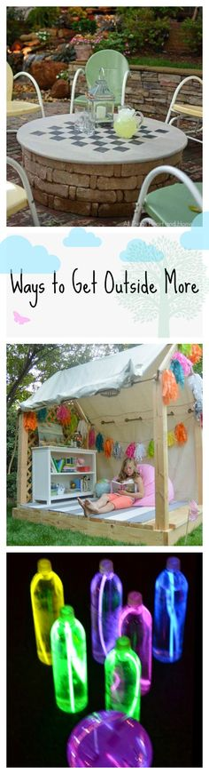 It's time to take indoor activities outdoors! Take all your indoor activities outside this summer with these simple DIY tutorials.