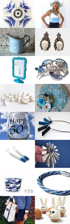 Blue and White by Lynn McPherson on Etsy--Pinned+with+TreasuryPin.com