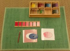 Shading is such an important skill to acquire when learning to paint. Fortunately, we Montessorians have Color Box III. Each set of tablet. Maria Montessori, Montessori Color, Montessori Preschool, Montessori Education, Preschool Classroom, Art Classroom, Art Education, Montessori Elementary, Montessori Trays