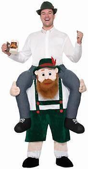efa5f2b7e9 Men s Beer Buddy Shoulder Rider Adult Costume - One-Size Oktoberfest Party