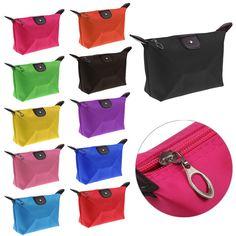 1 UNID multi-colores de la Mujer bolsa de almacenamiento de bolsa de cosméticos Dama de La Moda Bolsas de Viaje Bolsa de Cosméticos de Maquillaje organizador de Almacenamiento de Embrague bolsa