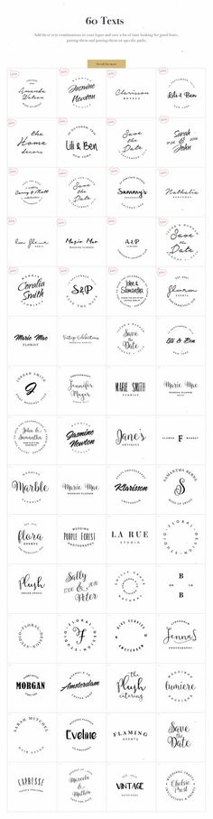 Logo Design Kit by VladCristea on Creative logo design inspiration, perfect for a modern business branding with perfect font and typography selection. Take some ideas or use this feminine, elegant, nature, floral and also hipster set. Web Design, Design Logo, Branding Design, Business Branding, Logo Branding, 7 Logo, Blog Logo, Logo Inspiration, Logo Fotografie