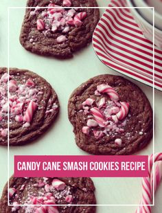 How To Make Candy Cane Smash Cookies | Recipe