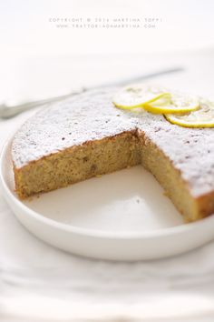 Torta con mandorle e limone (simil caprese al limone)Trattoria da Martina - cucina tradizionale, regionale ed etnica