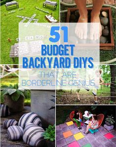 51 Budget Backyard DIYs That Are Borderline Genius Can't afford that dream deck or in-ground pool you're dying for? There are still ways to get a beautiful backyard that's perfect for entertaining. Outdoor Projects, Garden Projects, Diy Projects, Diy Backyard Projects, Diy Garden, Garden Art, Garden Pool, Garden Edging, Outdoor Fun