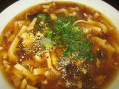#Chinese hot and sour #soup makes a delicious lunch or appetizer, blending a variety of flavors to create the distinctive taste.