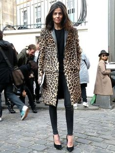 Another great leopard coat. . .