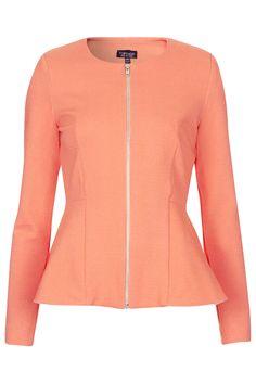 Photo 1 of Slim Peplum Zip Jacket Coat Sale, Slim, Trending Now, Shirt Jacket, Fashion News, Topshop, My Style, Blazers, Sweaters