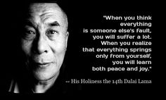 The spirituality and wisdom of The Dalai Lama is evident when you read about the life he has led and the words he speaks. He is a beacon of kindness and love. Here are 16 of his most famous quotes to inspire you today. Dalai Lama, Great Quotes, Quotes To Live By, Inspirational Quotes, Wisdom Quotes, Motivational Quotes, Blame Quotes, Amor Quotes, Zen Quotes