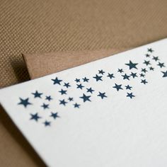 Tiny Stars Letterpress Stationery by PheasantPress on Etsy