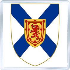 Internet Store of Worldwide Souvenirs - Acrylic Fridge Magnet: Canada. Coat of Arms of Nova Scotia Filipino Tattoos, Crests, Nova Scotia, Coat Of Arms, Wedding Vendors, Wood Print, Art Boards, Canada, Tapestry