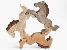 トライアングルホース 木のおもちゃ杢・MOKU