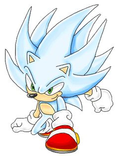Hyper Sonic The Hedgehog (only seen in Don't look at it too long Sonic The Hedgehog, Hedgehog Movie, Hedgehog Art, Shadow The Hedgehog, Dino Rangers, Tails Doll, Shadow Sonic, Dragon Ball, Sonic Dash
