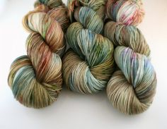Hand Dyed Yarn merino Spring Thaw colorway Peyton by swoonfibers, $23.00