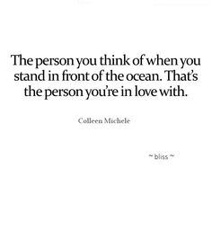 That's who you're in love with.