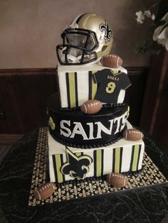 Thanks to Tami Ladner for sending! #cake #Cakes #Saints #Wedding