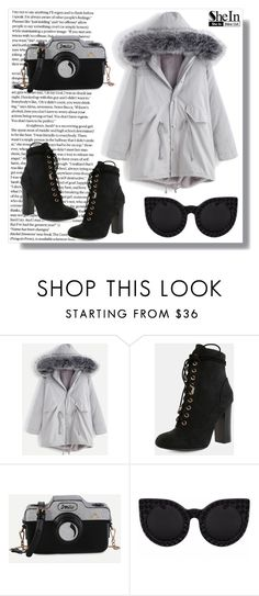 """SheIn VII / 14."" by amra-sarajlic ❤ liked on Polyvore featuring Delalle, Sheinside and shein"