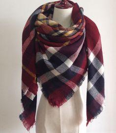 Soft Plaid Blanket Scarf, Oversized Blanket Scarf, Red Plaid by WorthxthexWait on Etsy https://www.etsy.com/ca/listing/253668711/soft-plaid-blanket-scarf-oversized
