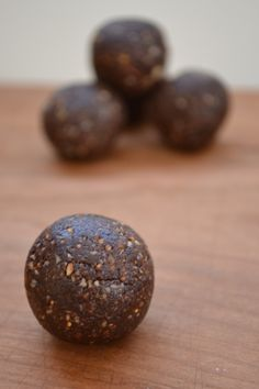 Chocolate-Fig-Date-Almond Truffles - Try adding gluten-free grains or chia seeds for more nutrition