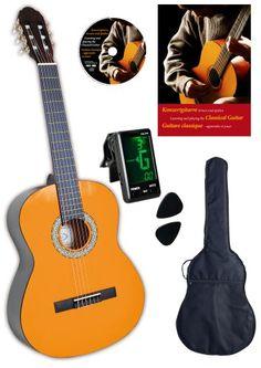 Konzert Gitarre 1/2 natur mit Buch und Karaoke-CD, Stimmgerät, laminierte Fichtendecke, Rosewood Griffbrett CLIFTON http://www.amazon.de/dp/B004417IHY/ref=cm_sw_r_pi_dp_thPzub1D6SCWQ