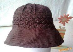 hnědý klobouk Crochet Hats, Beanie, Headbands, Webhosting, Hat Patterns, Scarves, Sport, Fashion, Caps Hats