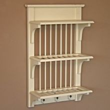 Wall Mounted Antique French Plate Rack