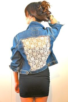 Lace Infused Denim Levis Jacket