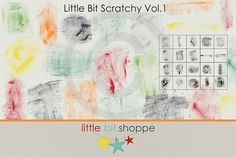 Little Bit Scratchy Vol.1 by Little Bit Shoppe on @creativemarket
