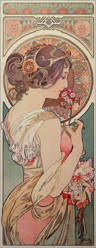 Schlüsselblume Bilder: Poster von Alfons Maria Mucha bei Posterlounge.de