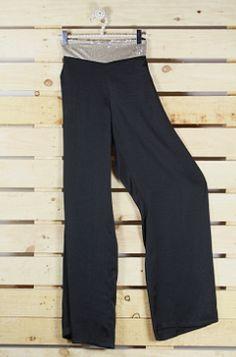 pantallon raso negro paillete