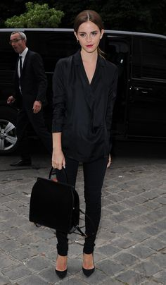 Emma Watson at Paris Fashion Week 2014 - News Villas