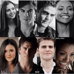#TVD 1x01/8x16 - Elena, Damon, Stefan and Bonnie