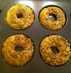 Toasty Paleo Everything Bagels. Recipe: ½ c. Almond butter ¼ c. Almond flour ¼ c. salt Blend all ingredients in food processor. Spoon into olive oil sprayed. Paleo Recipes, Real Food Recipes, Cooking Recipes, Almond Butter, Almond Flour, Flax Seed Recipes, Flaxseed Meal Recipes, Paleo Baking, Paleo Bread