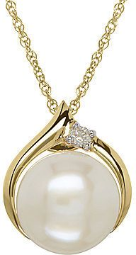 FINE JEWELRY Certified Sofia Cultured Freshwater Pearl & Diamond-Accent Pendant Necklace at JCPenney.