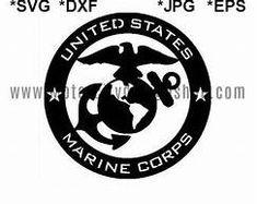 free svg marine corps logo for cricut - Yahoo Image Search Results Cricut Stencils, Cricut Vinyl, Marine Corps Symbol, Cricut Apps, Cricut Explore Projects, Vinyl Projects, Marine Quotes, Marine Corps Birthday, Marines Logo