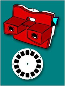 The Lady Wolf: Retro View-Master and Disc SVG