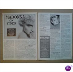 Madonna. Madonna On Video 3 + 1/2 page feature Record Collector magazine