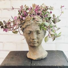 Planter Heads Our lady hazel and her wandering jew hairstyle Informations About Planter Heads Our lady hazel and her wandering jew hairstyle Pin You can easily us Indoor Garden, Garden Art, Indoor Plants, Outdoor Gardens, Wandering Jew, Head Planters, Decoration Plante, Plant Cuttings, Plant Decor