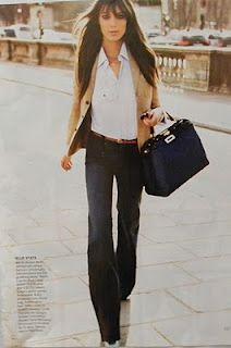 tan blazer and jeans