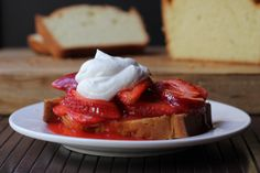 Cookistry: Strawberry Shortcake: The pound cake version with @Driscoll's Berries #StrawShortcake