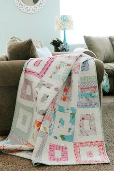I like the slightly modern look of this quilt pattern.