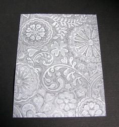 Turn your embossing folder into a stamp with Fun Foam
