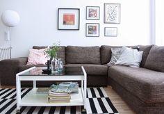 villa Luhta: olohuone Villa, Couch, Living Room, Furniture, Home Decor, Settee, Decoration Home, Sofa, Room Decor