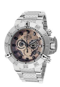 Invicta Men's Subaqua Chronograph Stainless Steel Titanium Dial - Watch 11590,    #Invicta,    #11590,    #WatchesFashionQuartz