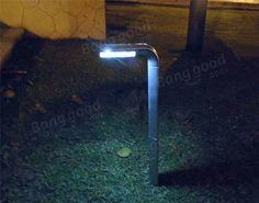 Garden Path Lawn L Shape 8 White LED Lights Solar Power Landscape Lighting at Banggood