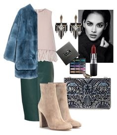 """Без названия #9"" by zuxrav on Polyvore featuring мода, KOTUR, MAC Cosmetics, Lulu Frost, Gianvito Rossi, The 2nd Skin Co., Urban Decay, Marni, women's clothing и women"