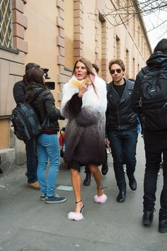 See All the Best Street Style from Milan Fashion Week: Anna Dello Russo