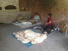 Lavash made in tonir in Noravank
